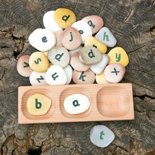 3 Pebble Word Building Tray